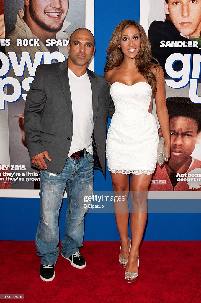 Joe Gorga (L) and Melissa Gorga attend the 'Grown Ups 2' New York Premiere at AMC Lincoln Square Theater on July 10, 2013 in New York City.