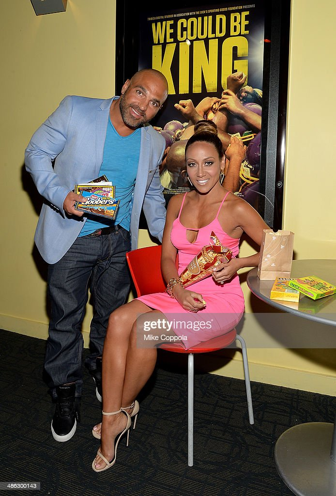 Joe Gorga and Melissa Gorga attends the Dick's Sporting Goods 'We Could Be King' Premiere during the 2014 Tribeca Film Festival at Sunshine Landmark...