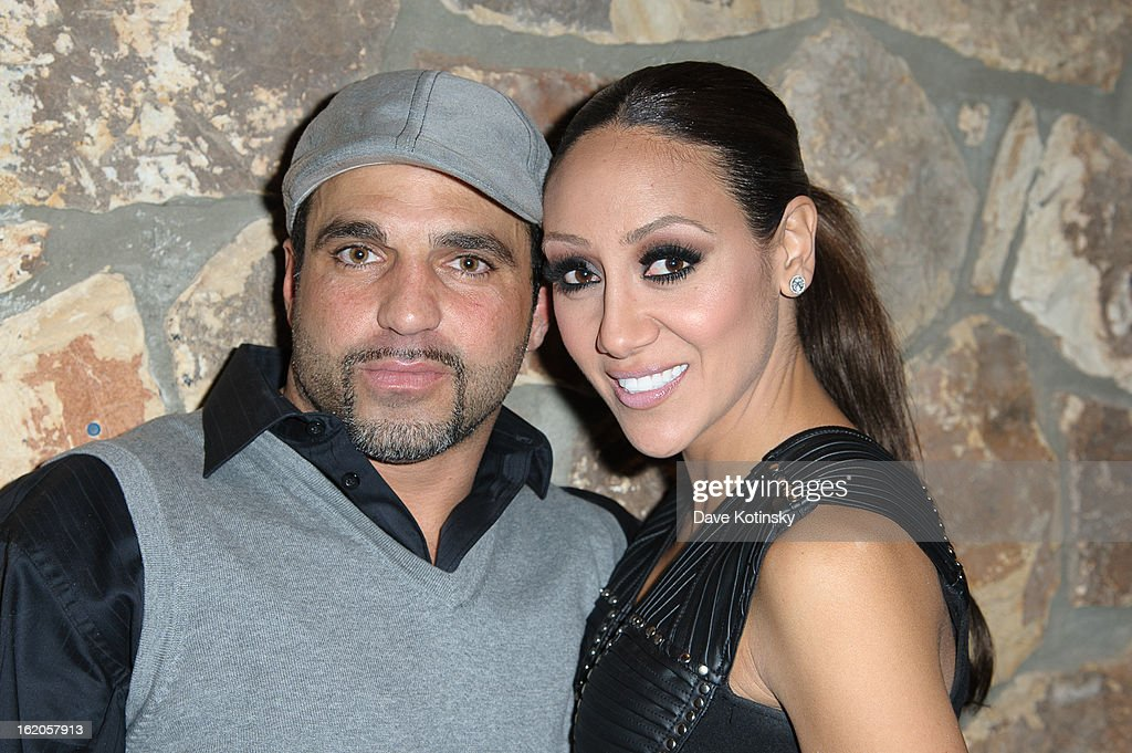 Joe Gorga and <a gi-track='captionPersonalityLinkClicked' href=/galleries/search?phrase=Melissa+Gorga&family=editorial&specificpeople=7306775 ng-click='$event.stopPropagation()'>Melissa Gorga</a> attends the Milania Professional Hair Care Launch Party at Stone House At Stirling Ridge on February 18, 2013 in Warren, New Jersey.
