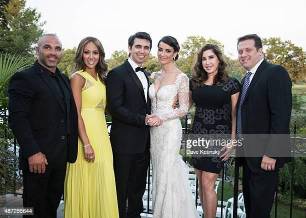 Joe Gorga Melissa Gorga Dr Sheila Malek Dr Ramtin Kassir MD Jacqueline Laurita and Chris Laurita pose at the wedding of plastic surgeon and...