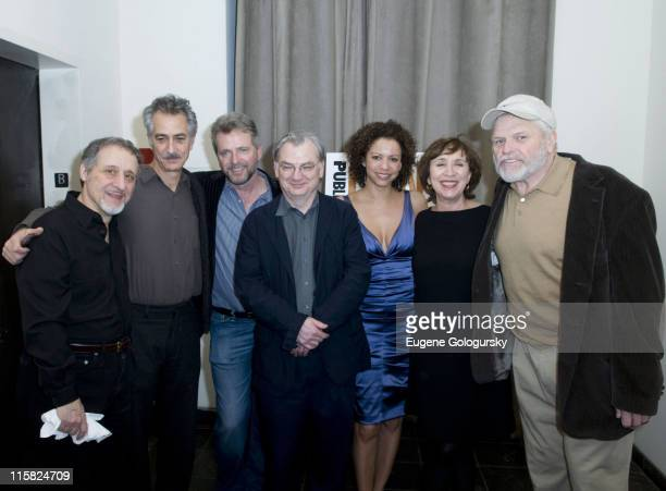 Joe Grifasi David Strathairn Aidan Quinn Richard Nelson Gloria Reuben Maria Tucci and Brian Dennehy attend the opening night of 'Conversations in...