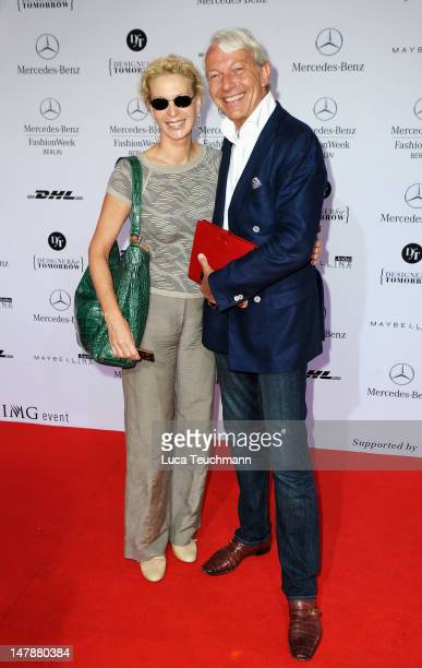Joe Groebel and Grit Weiss arrive for the UnrathStrano Red Carpet at the MercedesBenz Fashion Week Spring/Summer 2013 on July 5 2012 in Berlin Germany