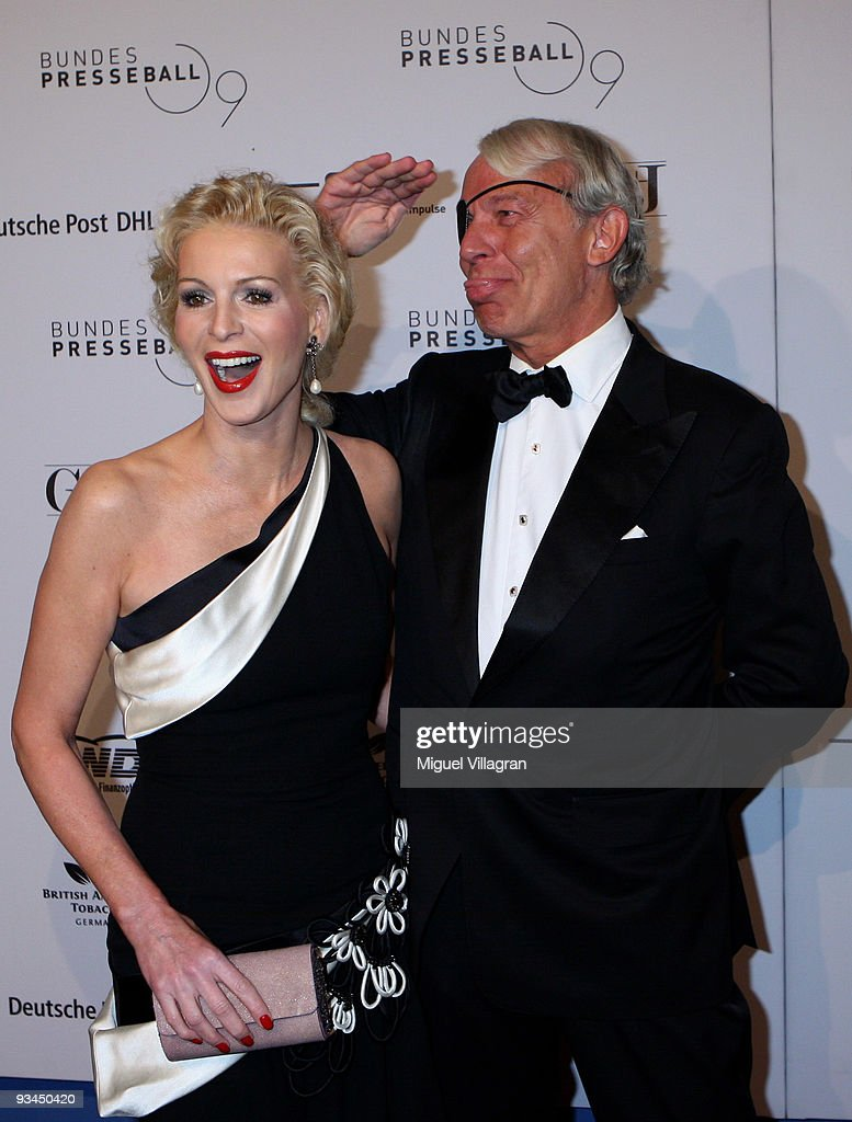 Joe Groebel and Grit Weiss attend the annual press ball 'Bundespresseball' at the Intercontinental Hotel in Berlin on November 27 2009 in Berlin...
