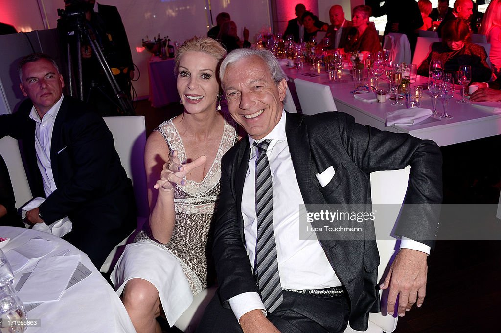Joe Groebel and Grit Weiss attend the 'BMW Golf Cup International 2013 - Charity Gala' at BMW Berlin on June 29, 2013 in Berlin, Germany.