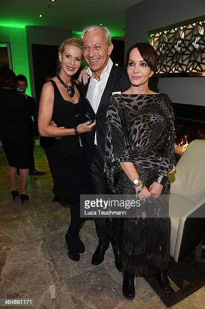 Joe Groebel Grit Weiss and Anouschka Renzi attend Hotel Am Steinplatz Grand Opening on January 24 2014 in Berlin Germany