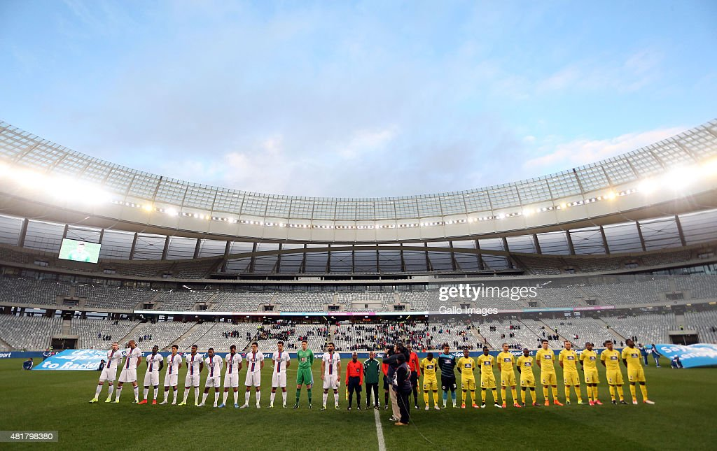 Joe GV during the 2015 Cape Town Cup match between SuperSport United and Crystal Palace FC at Cape Town Stadium on July 24 2015 in Cape Town South...