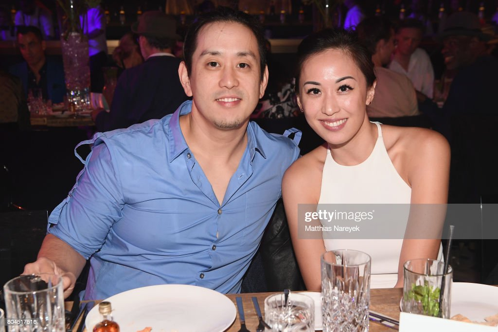 Joe Hahn and Heidi Woan attend Bacardi X The Dean Collection Present: No Commission on June 30, 2017 in Berlin, Germany. Bacardi and The Dean Collection hosted an intimate dinner for artists featured in the show.
