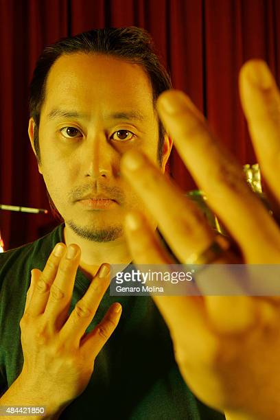 Joe Hahn of musical group Linkin Park is photographed for Los Angeles Times on May 15 2014 in North Hollywood California
