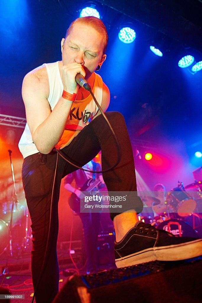Joe Hallam of Or Die Trying performs on stage at the Corporation on January 24, 2013 in Sheffield, England.