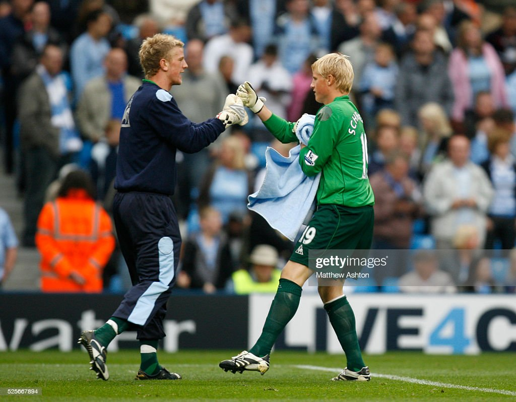 http://media.gettyimages.com/photos/joe-hart-and-kasper-schmeichel-of-manchester-city-picture-id525667894