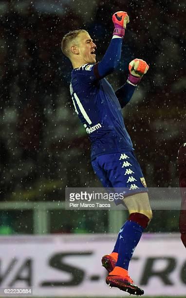 Joe Hart goalkeeper of FC Torino celebrates the victory during the Serie A match between FC Torino and Cagliari Calcio at Stadio Olimpico di Torino...