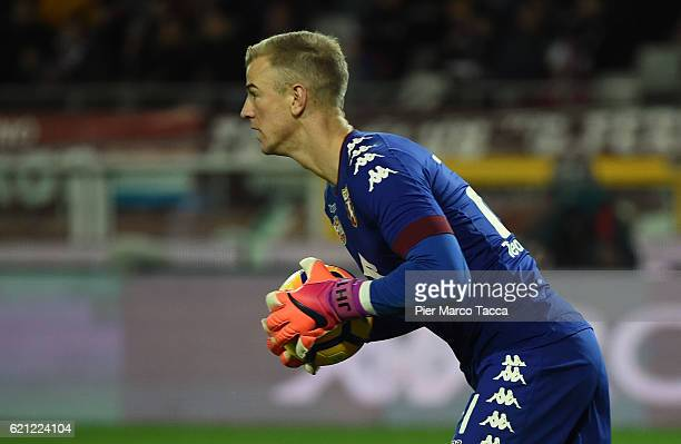 Joe Hart goalkeeper of FC Torino in action during the Serie A match between FC Torino and Cagliari Calcio at Stadio Olimpico di Torino on November 5...