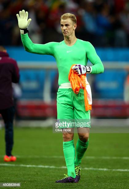 Joe Hart of England acknowledges the fans after being defeated by Uruguay 21 during the 2014 FIFA World Cup Brazil Group D match between Uruguay and...