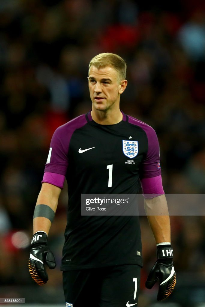 Joe Hart of England in action during the FIFA 2018 World Cup Group F Qualifier between England and Slovenia at Wembley Stadium on October 5, 2017 in London, England
