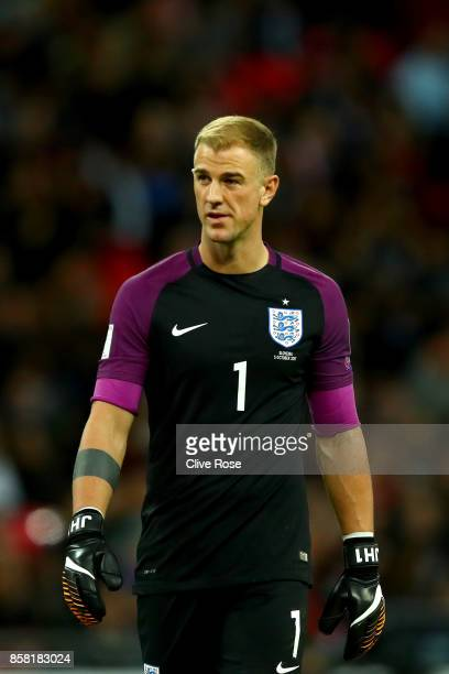 Joe Hart of England in action during the FIFA 2018 World Cup Group F Qualifier between England and Slovenia at Wembley Stadium on October 5 2017 in...