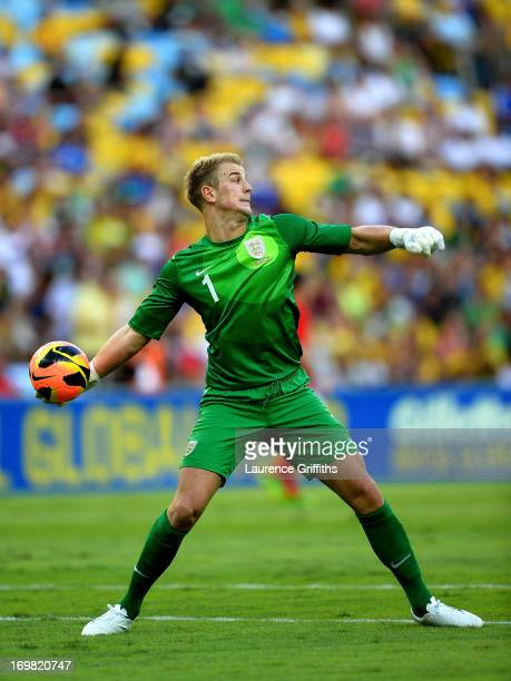 Joe Hart of England in action during the International Friendly match between England and Brazil at Maracana on June 2 2013 in Rio de Janeiro Brazil