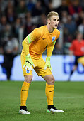 Joe Hart of England in action during the international friendly match between Italy and England at the Juventus Stadium on March 31 2015 in Turin...