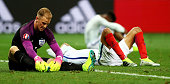 Joe Hart of England show his dissapointment after defeat during the UEFA EURO 2016 round of 16 match between England and Iceland at Allianz Riviera...