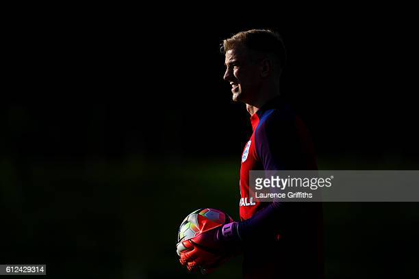 Joe Hart of England takes part in an England training session at St George's Park on October 4 2016 in BurtonuponTrent England