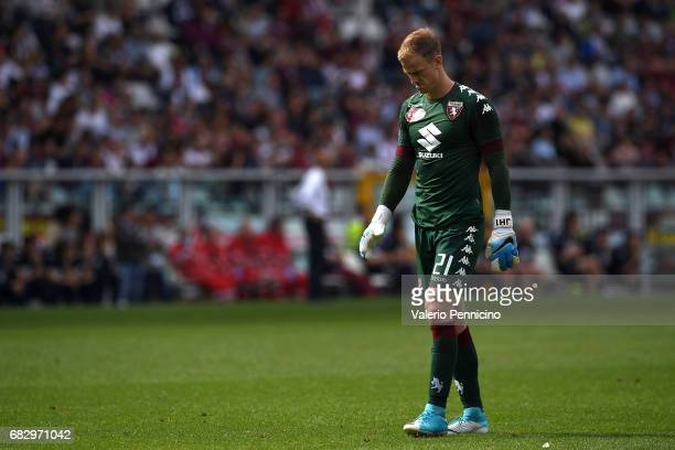 Joe Hart of FC Torino looks dejected during the Serie A match between FC Torino and SSC Napoli at Stadio Olimpico di Torino on May 14 2017 in Turin...