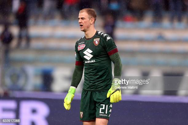 Joe Hart of FC Torino looks on during the Serie A match between Empoli FC and FC Torino at Stadio Carlo Castellani on February 5 2017 in Empoli Italy