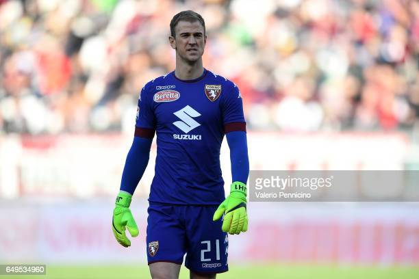 Joe Hart of FC Torino looks on during the Serie A match between FC Torino and US Citta di Palermo at Stadio Olimpico di Torino on March 5 2017 in...