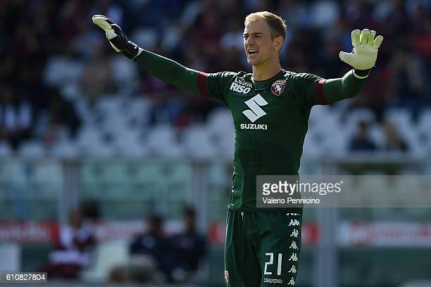 Joe Hart of FC Torino reacts during the Serie A match between FC Torino and Empoli FC at Stadio Olimpico di Torino on September 18 2016 in Turin Italy
