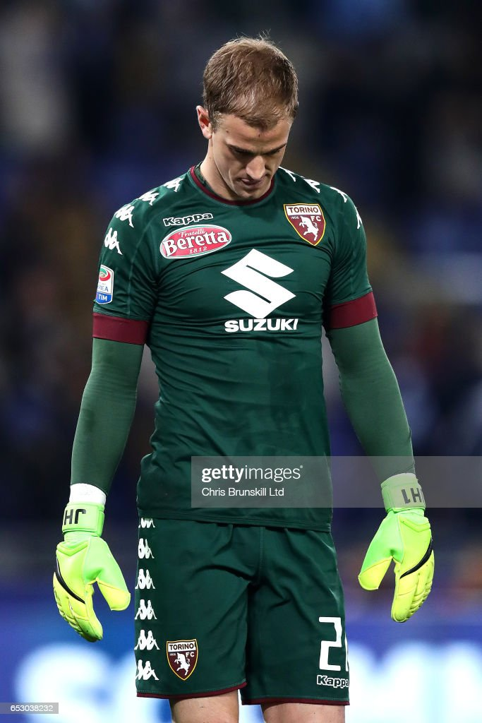 Joe Hart of FC Torino reacts during the Serie A match between SS Lazio and FC Torino at Stadio Olimpico on March 13, 2017 in Rome, Italy.