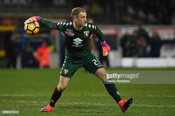 Joe Hart of FC Torino throws the ball during the Serie A match between FC Torino and AC Milan at Stadio Olimpico di Torino on January 16 2017 in...