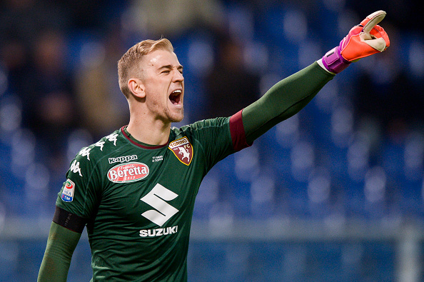Joe Hart of Torino FC gestures during the Serie A football... : News Photo