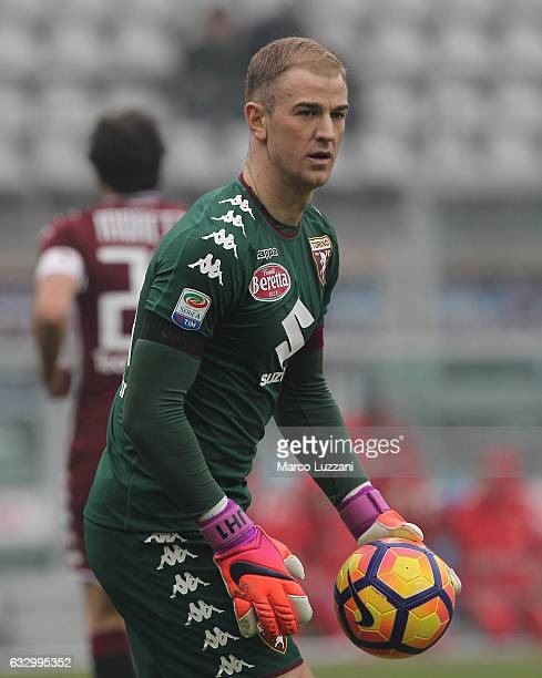 Joe Hart of Torino FC looks on during the Serie A match betweenFC Torino and Atalanta BC at Stadio Olimpico di Torino on January 29 2017 in Turin...