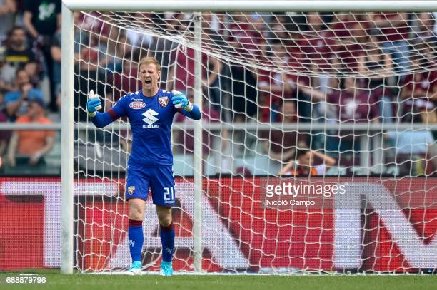 Joe Hart of Torino FC reacts after a goal of FC Crotone during the Serie A football match between Torino FC and FC Crotone Final result is 11