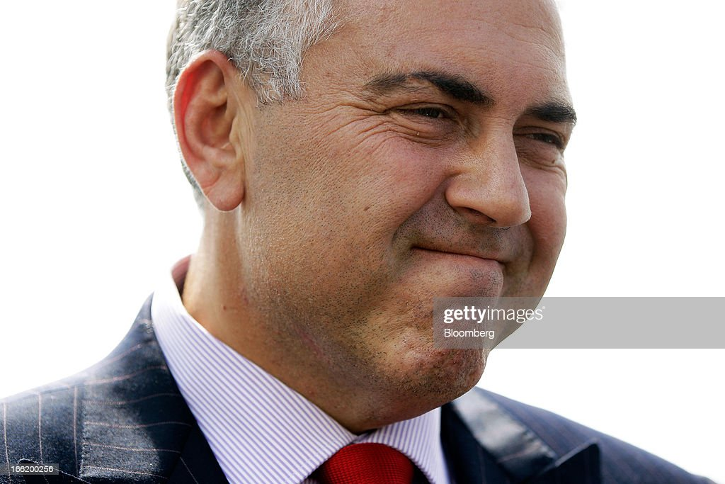 Joe Hockey, Australia's opposition Treasury spokesman, listens during an interview on the sidelines of the Bloomberg Australia Economic Summit in Sydney, Australia, on Wednesday, April 10, 2013. Hockey intends to ask the Australian Office of Financial Management to extend the maturity of the nation's sovereign bonds should his party form government following a September election. Photographer: Brendon Thorne/Bloomberg via Getty Images