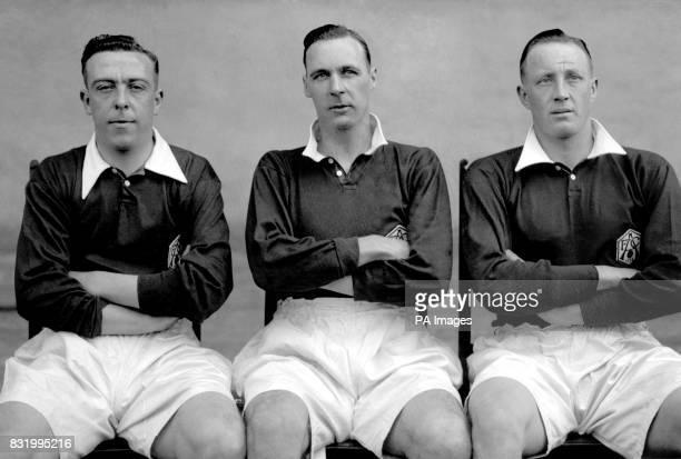 Joe Hulme David Jack and Jack Lambert of Arsenal