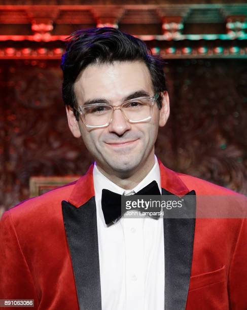 Joe Iconis of the Joe Iconis and Family ensamble perfors during Feinstein's/54 Below Holiday Show press preview at Feinstein's/54 Below on December...