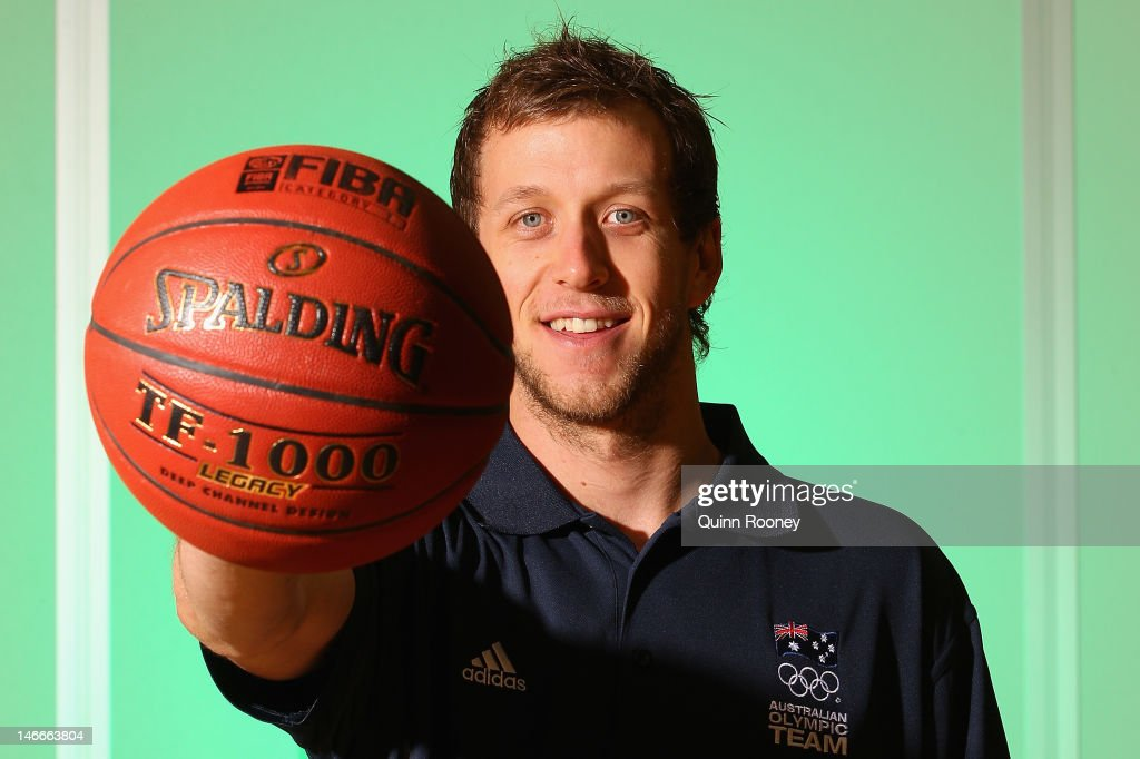 <a gi-track='captionPersonalityLinkClicked' href=/galleries/search?phrase=Joe+Ingles&family=editorial&specificpeople=3868025 ng-click='$event.stopPropagation()'>Joe Ingles</a> of Australia poses during the Australian Olympic Games team announcement at Knox Basketball Stadium on June 22, 2012 in Melbourne, Australia.