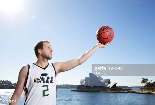 Joe Ingles of the Utah Jazz poses during an NBL Media Opportunity at Cruise Bar on August 1 2017 in Sydney Australia