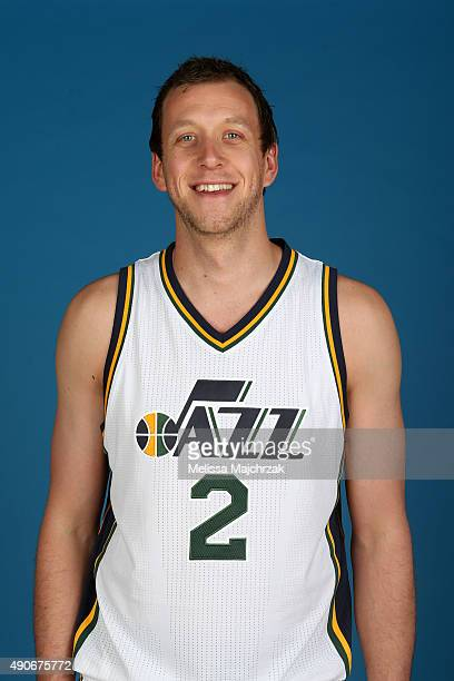 Joe Ingles of the Utah Jazz poses for a photo during Media Day at Zions Basketball Center on September 28 2015 in Salt Lake City Utah NOTE TO USER...