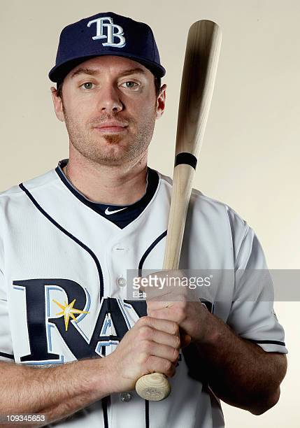Joe Inglett of the Tampa Bay Rays poses for a portrait during the Tampa Bay Rays Photo Day on February 22 2011 at the Charlotte Sports Complex in...