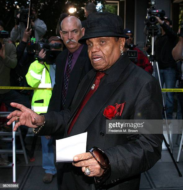 Joe Jackson father of pop icon Michael Jackson leaves the Los Angeles Criminal Courts building for the court appearance of Dr Conrad Murray on April...