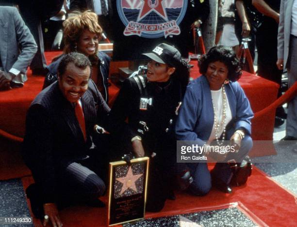 Joe Jackson Janet Jackson and Katherine Jackson during Janet Jackson Honored with a Star on the Hollywood Walk of Fame at 1500 Vine St in Hollywood...
