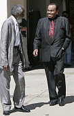 Joe Jackson Michael Jackson's father right leaves Santa Barbara County Superior Court in Santa Maria Calif with nutritionist Dick Gregory left Monday...