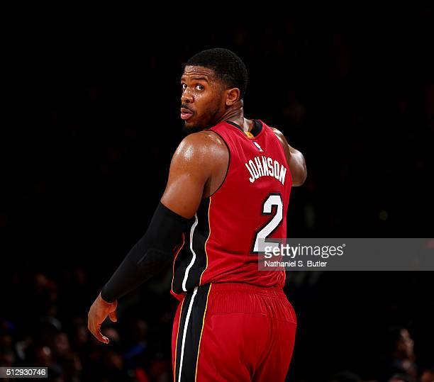 Joe Johnson is seen during the game against the New York Knicks on February 28 2016 at Madison Square Garden in New York City New York NOTE TO USER...