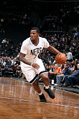 Joe Johnson of the Brooklyn Nets drives against the Milwaukee Bucks on March 20 2015 at Barclays Center in Brooklyn New York NOTE TO USER User...