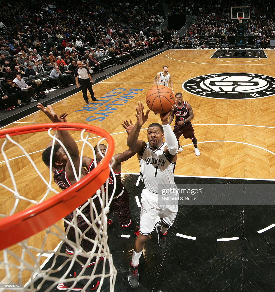 <a gi-track='captionPersonalityLinkClicked' href=/galleries/search?phrase=Joe+Johnson+-+Basketball+Player&family=editorial&specificpeople=201652 ng-click='$event.stopPropagation()'>Joe Johnson</a> #7 of the Brooklyn Nets drives to the basket against the Chicago Bulls on February 1, 2013 at the Barclays Center in the Brooklyn borough of New York City.