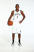 Joe Johnson of the Brooklyn Nets poses for a portrait during Media Day at the Nets practice facility on September 26 2014 in East Rutherford New...