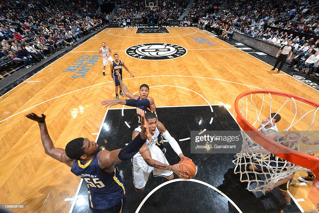 <a gi-track='captionPersonalityLinkClicked' href=/galleries/search?phrase=Joe+Johnson+-+Basketballer&family=editorial&specificpeople=201652 ng-click='$event.stopPropagation()'>Joe Johnson</a> #7 of the Brooklyn Nets shoots the ball against the Indiana Pacers during the game at the Barclays Center on January 13, 2013 in Brooklyn, New York.
