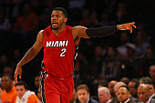 Joe Johnson of the Miami Heat in action against the New York Knicks at Madison Square Garden on February 28 2016 in New York City NOTE TO USER user...