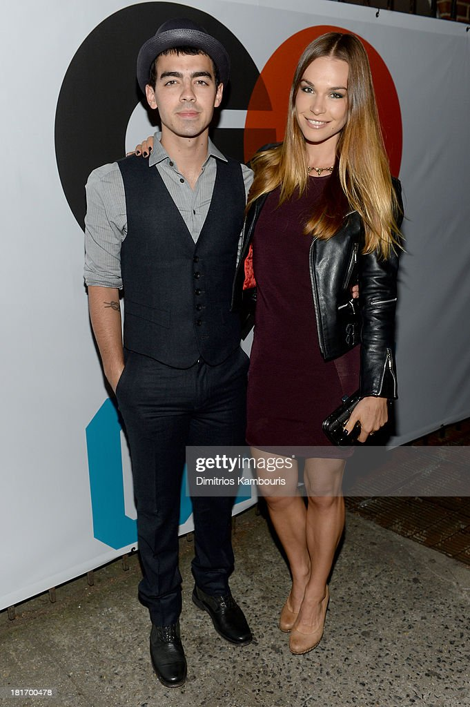 <a gi-track='captionPersonalityLinkClicked' href=/galleries/search?phrase=Joe+Jonas&family=editorial&specificpeople=842712 ng-click='$event.stopPropagation()'>Joe Jonas</a> and Blanda Eggenschwiler attend the GQ & Gap event to celebrate 2013 Best New Menswear Designers Collaboration on September 23, 2013 in New York City.