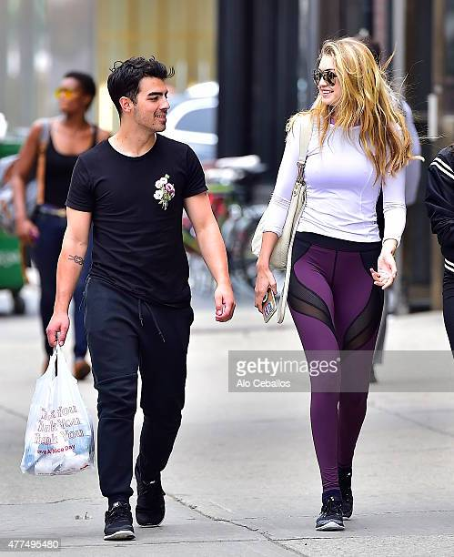 Joe Jonas and Gigi Hadid are seen in Soho on June 17 2015 in New York City